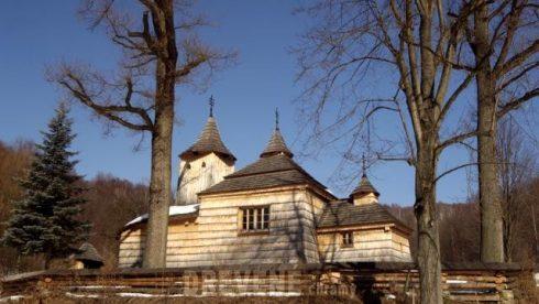 krajné čierno drevený chrám