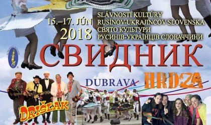 slávnosti kultúry rusínov ukrajincov 2018