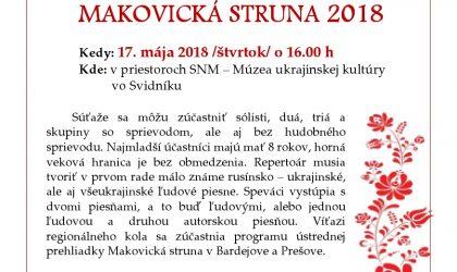 makovicka struna 2018